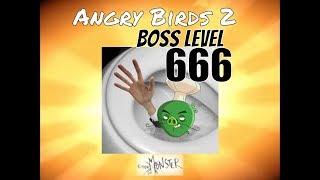 Angry Birds Boss Level 666 Flushing Chef Pig Walkthrough