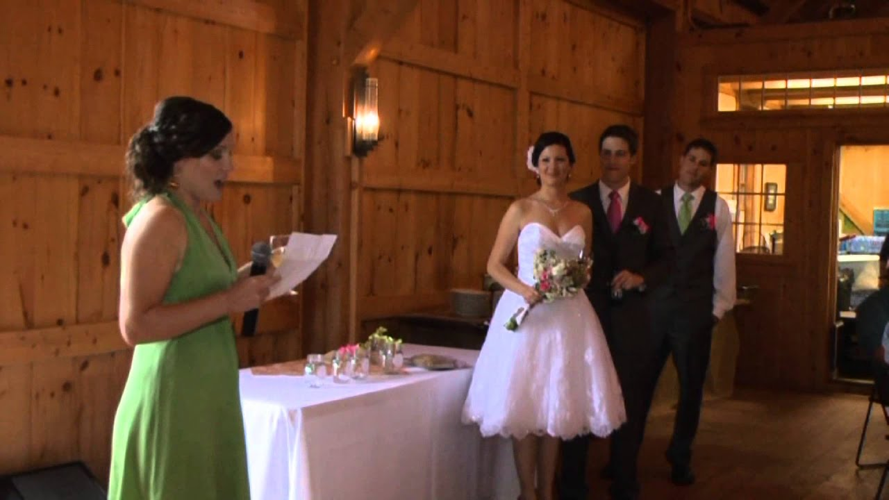 How To Be The Best Maid Of Honor: RACHEL'S MAID OF HONOR SPEECH 05.18.13 (click On HD For
