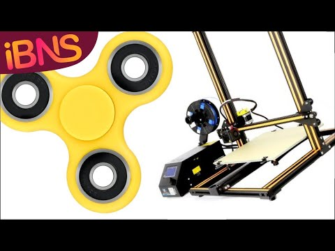 Live 3D printing of a fidget spinner with the Creality CR-10