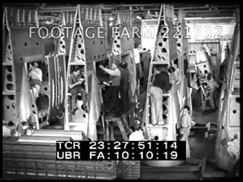 Douglas Aircraft Manufacturing - Assembly Line & Engineering 221732-03 | Footage Farm