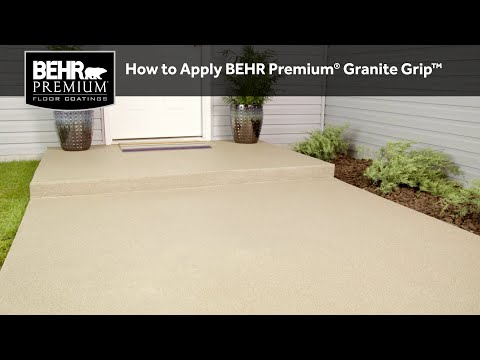 How to Apply BEHR Premium® Granite Grip™