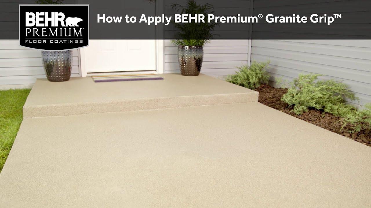 How To Apply Behr Premium 174 Granite Grip Youtube