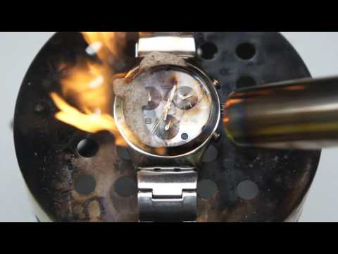 Burning Swatch Irony Chrono With Gas Torch