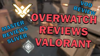 MASTERS OW player reviews SILVER VALORANT PLAYER!! Vod review of a Silver Valorant Comp game!
