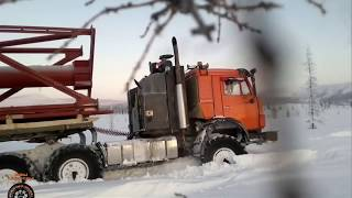 Дальнобойщики Севера Дороги севера России Зимник #16 Russian ice road truckers
