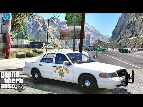 GTA 5 MODS LSPDFR 1013 - CHP HIGHWAY PATROL!!! (GTA 5 REAL LIFE PC MOD)