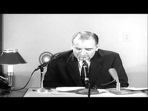 Senator Joseph McCarthy criticizes former President Harry S. Truman HD Stock Footage