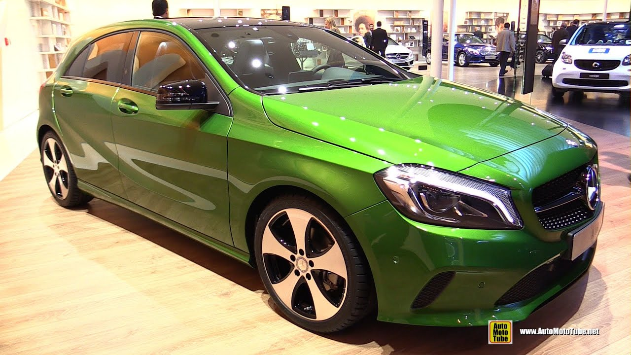 2016 mercedes a class a160 exterior and interior walkaround 2015 frankfurt motor show youtube. Black Bedroom Furniture Sets. Home Design Ideas
