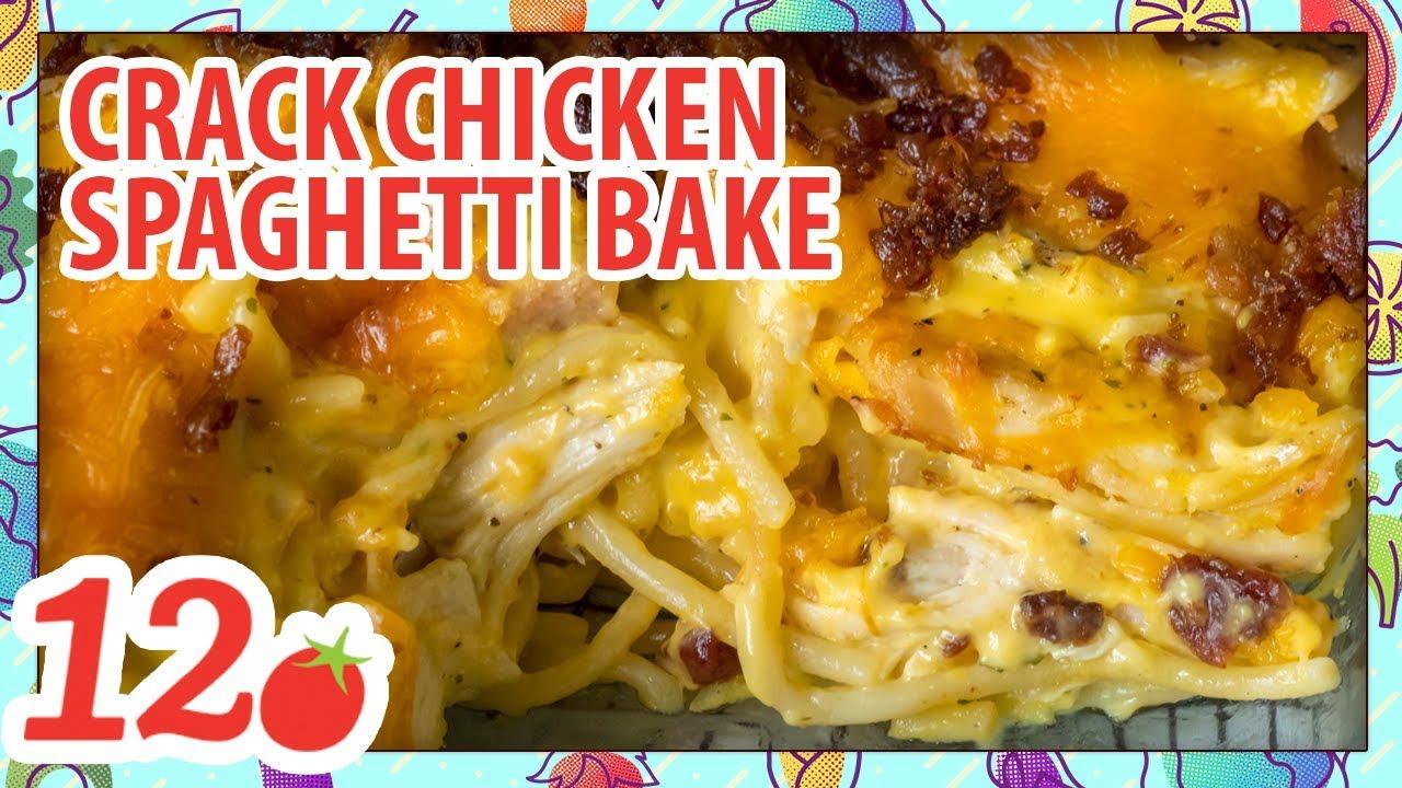 cheesy crack chicken spaghetti recipe