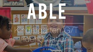Kindergarten GT Identification