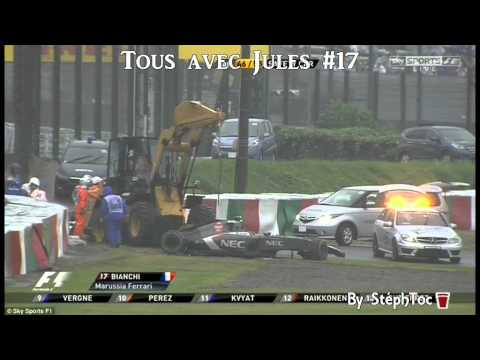 Crash Jules Bianchi - Japanese Grand Prix F1 2014  Suzuka