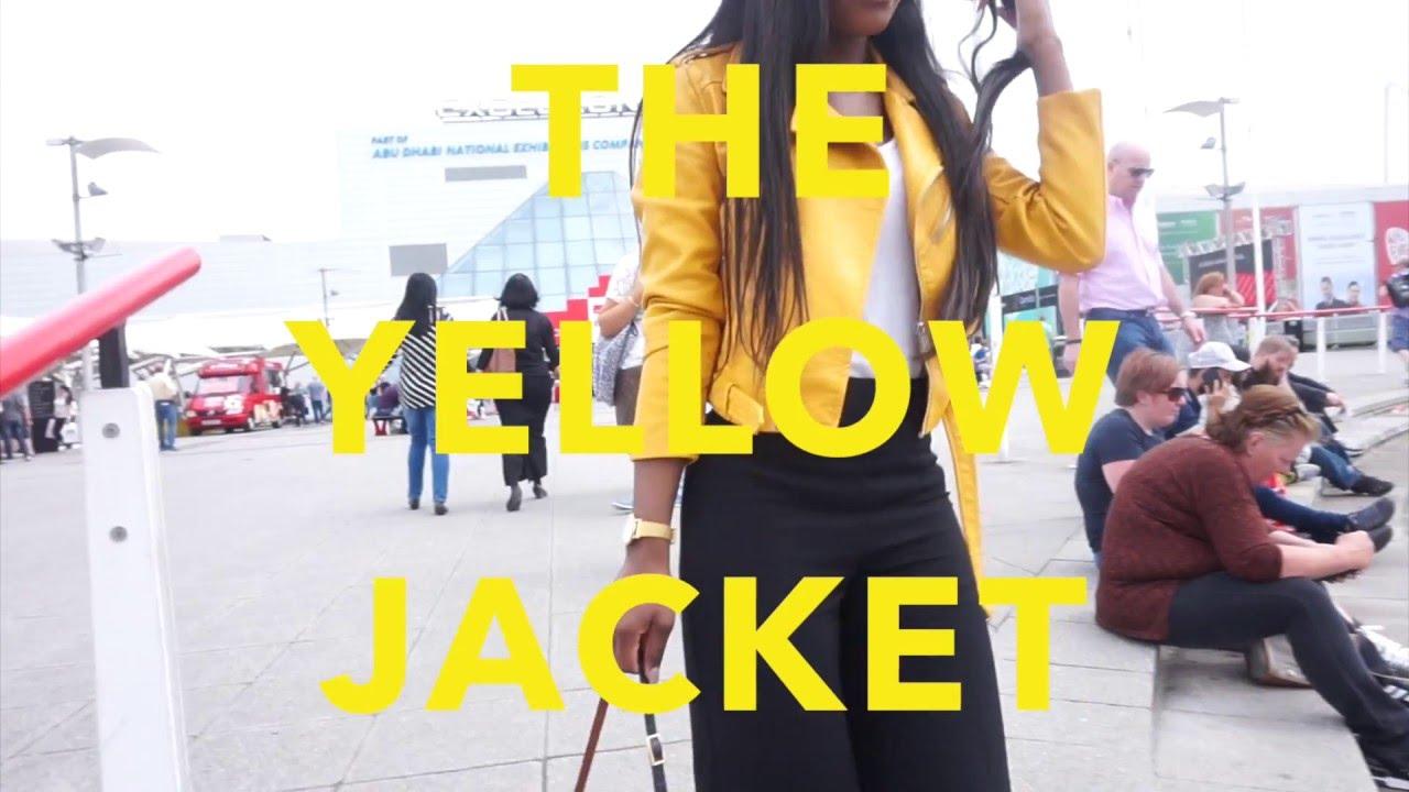 Leather jacket yellow zara - 1 Minute 1 Outfit Ootd How I Style My Zara Yellow Biker Jacket Jade Vanriel