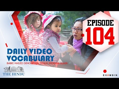 Vocabulary Episode 104 | Moribund , Prosecution , Reinforce, Reprisals, Eloquent