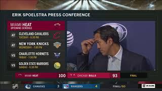 Erik Spoelstra -- Miami Heat at Chicago Bulls 11/26/2017