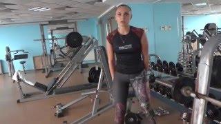 Силовая, жиросжигающая тренировка в тренажерном зале для девушек. Худеем быстро вместе