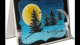 Brayered Night Sky Holiday Card