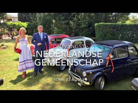 Koning Willem-Alexander houdt toespraak in 'een sauna' naast zomerse Máxima