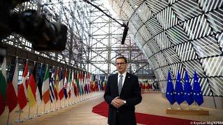 Mateusz Morawiecki po spotkaniu koordynacyjnym szefów rządów państw Grupy Wyszehradzkiej w Brukseli