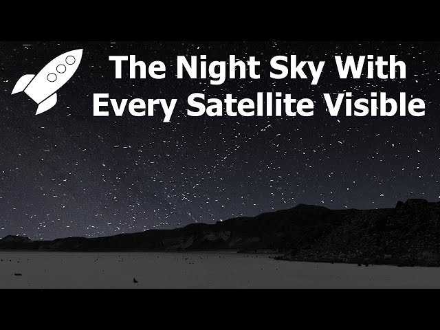 If You Could See Every Satellite, What Would The Sky Look Like? 360/VR