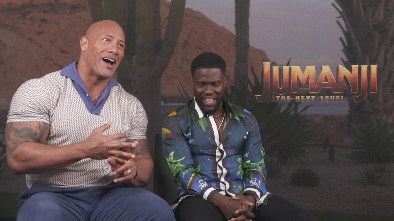 Jumanji The Next Level Dwayne Johnson Kevin Hart Official Movie Interview