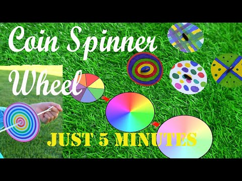 How to make a Colourful paper spinning wheel | DIY | aklavya Creation