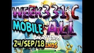 Angry Birds Friends Tournament All Levels Week 331-C MOBILE Highscore POWER-UP walkthrough
