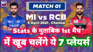 IPL 2021 - MI vs RCB | Match 01 , Top 7 Players To Watch | MCP07 | MY Cricket Production