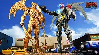 Power Rangers Movie Toy Battle! (Customize Your Goldar!)