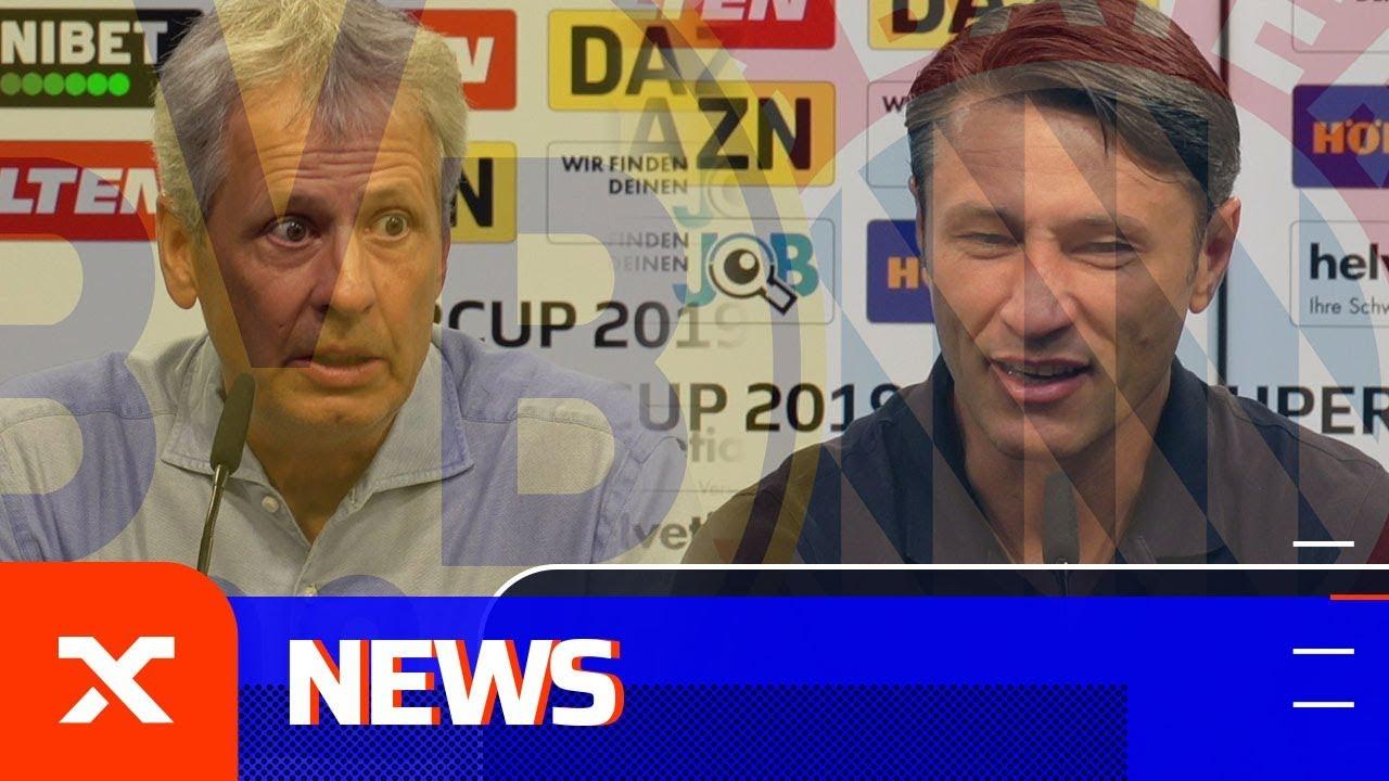 Das sagen Lucien Favre und Niko Kovac nach dem Supercup | Borussia Dortmund - FC Bayern München 2:0