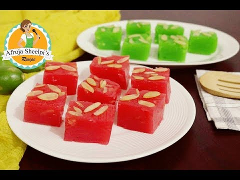বোম্বে করাচি হালুয়া || Bombay Karachi Halwa Recipe | Cornflour Halwa | How to make Cornflour Halwa