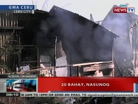 NTVL: 20 bahay, nasunog sa Cebu City