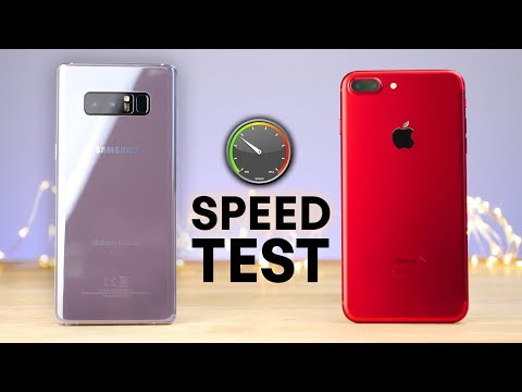 Thumbnail: Samsung Galaxy Note 8 vs iPhone 7 Plus Speed Test!