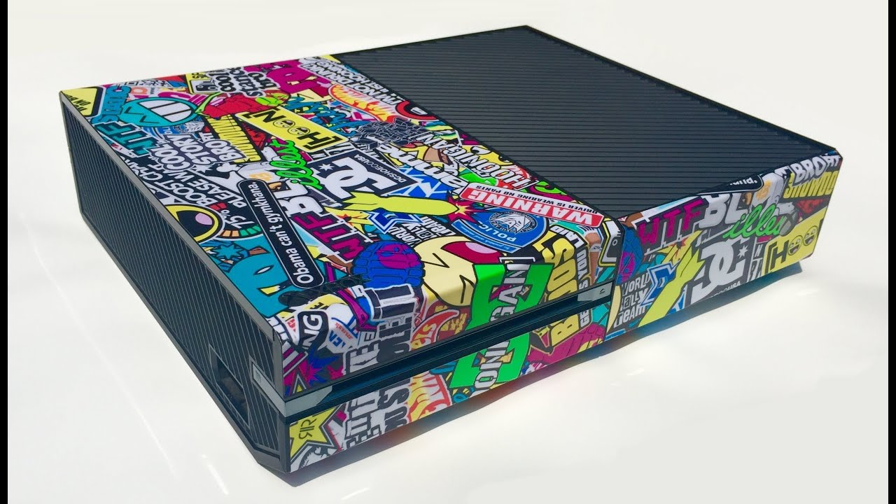 Skinown Sticker Bomb Xbox One Console Skin Installation And Review