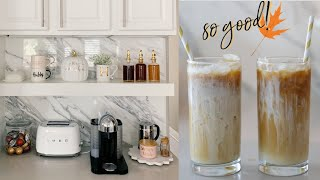 My Fall Coffee Bar Decor & Sweet Cream Cold Brew Recipe! MissLizHeart