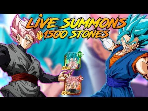 1500 STONES LIVE SUMMONS FOR VEGITO BLUE AND ROSE!!  | DRAGON BALL Z DOKKAN BATTLE