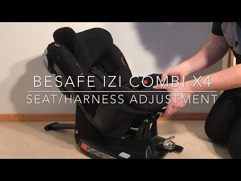 How To Adjust The Harness And Seat Positioning Of A Besafe Izi Combi X4 Car Seat Youtube