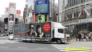 渋谷を走行する、フジテレビ系ドラマ「ナオミとカナコ」主題歌 2016年3...