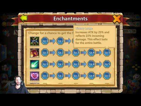 New Enchantment Talents Lv 5 Explained Castle Clash