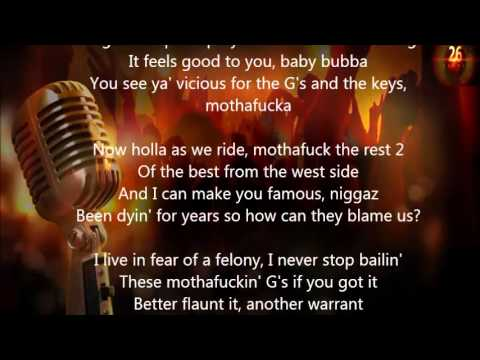 2Pac   Gangster Party (Lyrics)