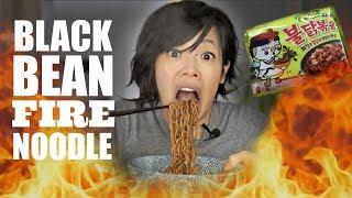JJAJANG Black Bean SPICY Noodle CHALLENGE | Samyang Fire Noodles