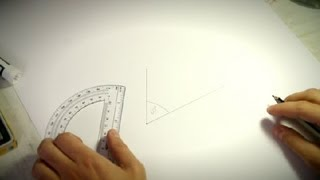 How to Use a Protractor to Draw Angles : How to Draw