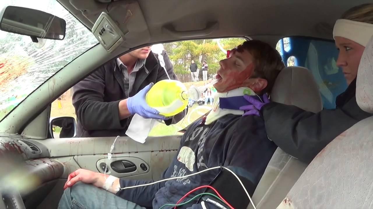 High School Mock Car Crash