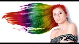 Обзор: цветные мелки для волос.Hot Huez