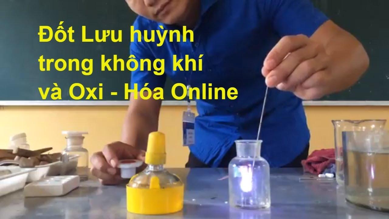 Đốt lưu huỳnh và thử tính chất của SO2 || Thí nghiệm hóa học