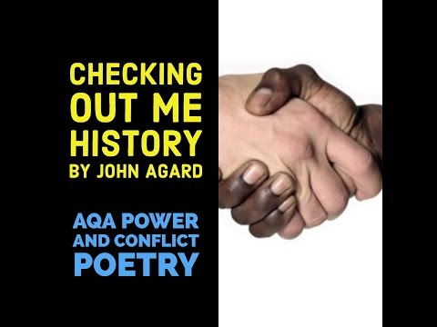 checkin out me history Today i had the joy of stumbling upon a brilliant poem by john agard whilst  working my day job as an english ta the poem not only stroked.