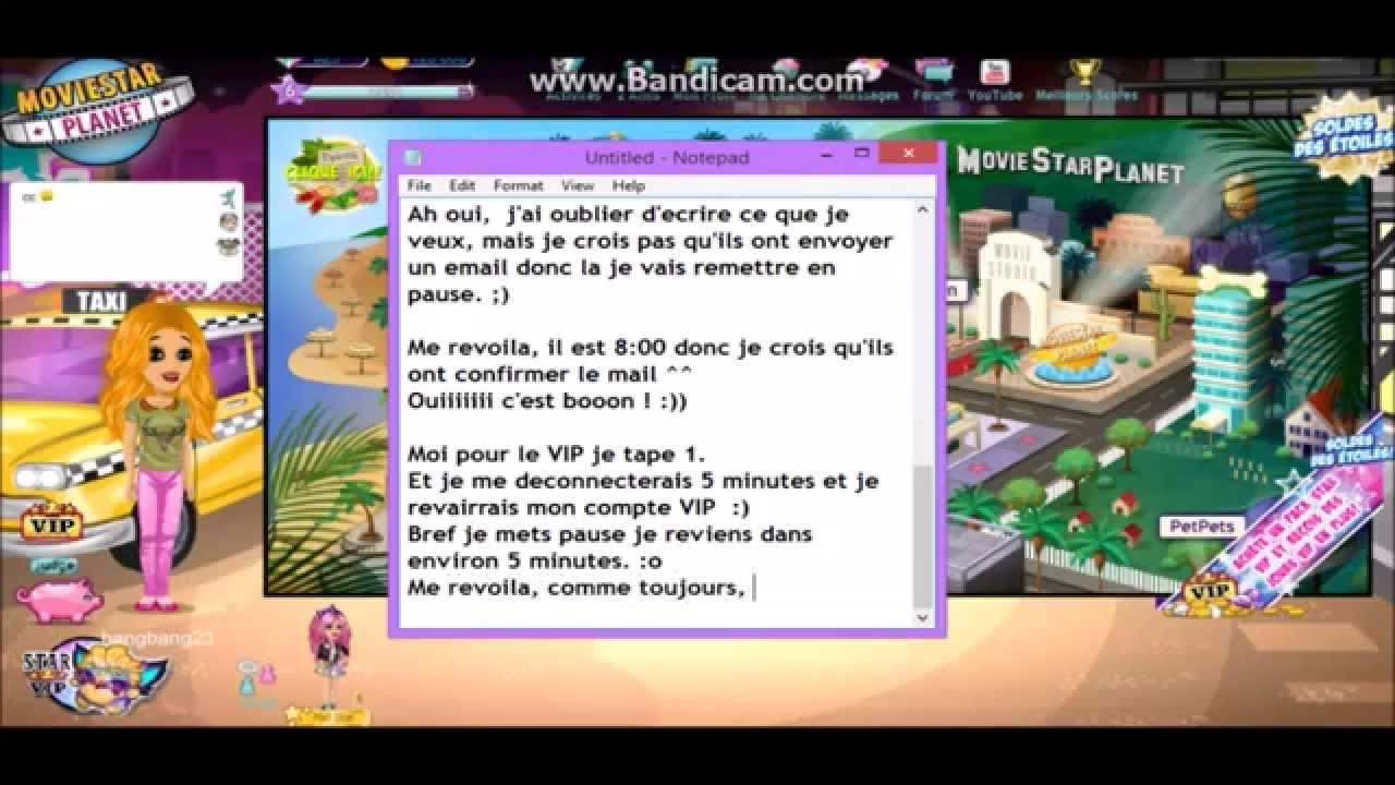 moviestarplanet gratuitement sur tablette