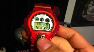 Clear/Translucent Red World Fifa Cup France 1998 G-shock