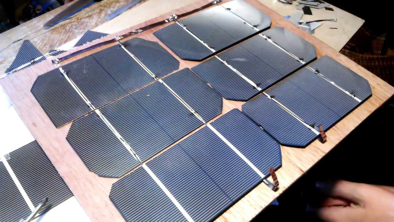 How To Connect Solar Cells With Bus Wire