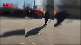 Pamukova'da YHT bakım aracı böyle alev aldı sonra ise..!