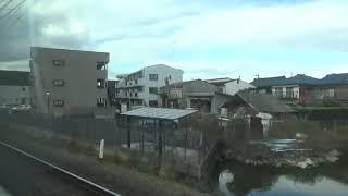 近鉄21000系 モ21304 名阪特急アーバンライナー近鉄名古屋⇒大阪難波間の車窓